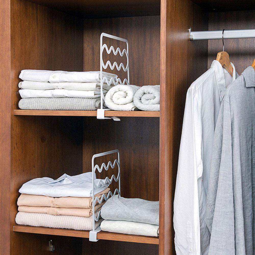 Полка для шкафа, перегородка для шкафа, полки для шкафа, перегородки для одежды, органайзер для шкафа, полка для дома, Органайзер