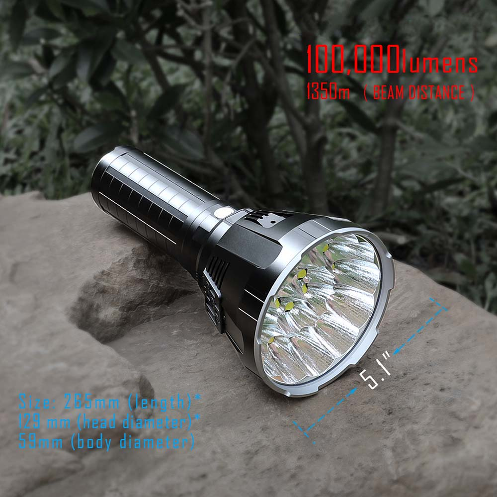 100000 Lumens Flashlight Rechargeable Powerful Torch 18PCS Cree XHP70.2 LED IP56 Water Proof For Camping Night Fishing Cycling