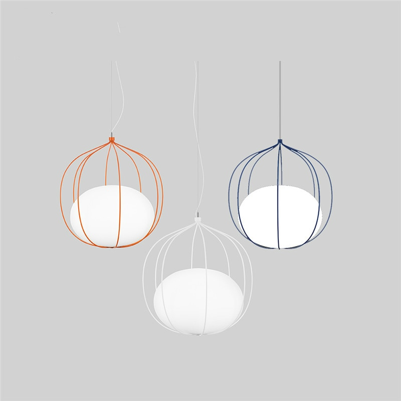 Modern Wire Led Pendant Lights Lighting Light Pendent Lamp Dining Living Room Bedroom Kitchen Bar Cafe Decorative Hanging Lamp