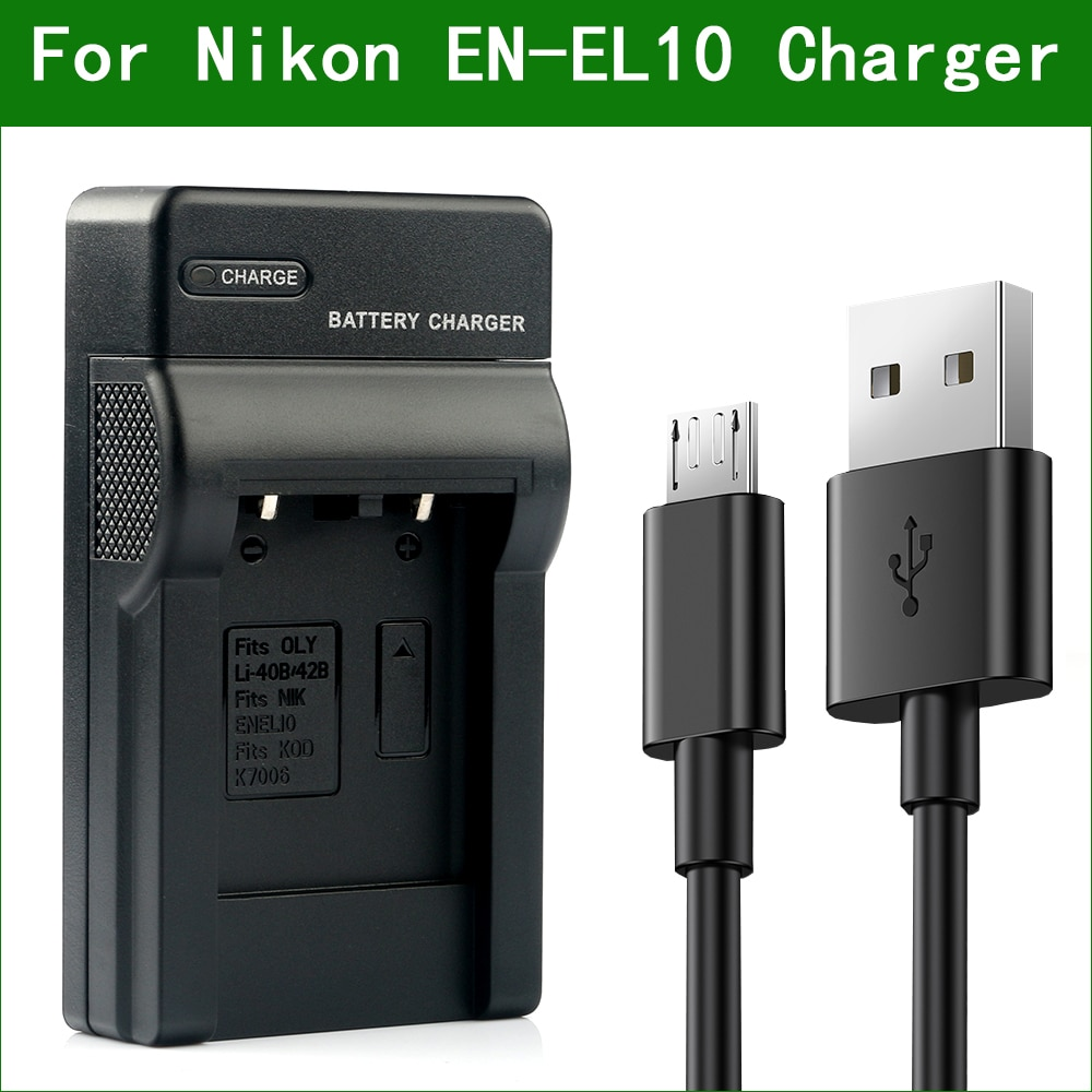 EN-EL10 MH-63 cargador de batería para cámara para Nikon COOLPIX S60 S80...