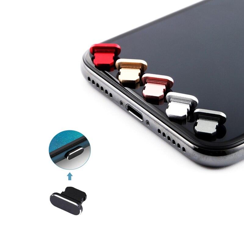 Пылезащитный чехол, алюминиевый сплав, портативное металлическое пылезащитное зарядное устройство, док-станция, пробка, крышка для iPhone 11 X XR Max 8 7 6S Plus-0