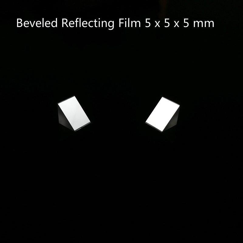 Prisme triangulaire en verre optique Lsosceles K9 Tri prisme avec Film réfléchissant biseauté optique 5x5x5mm