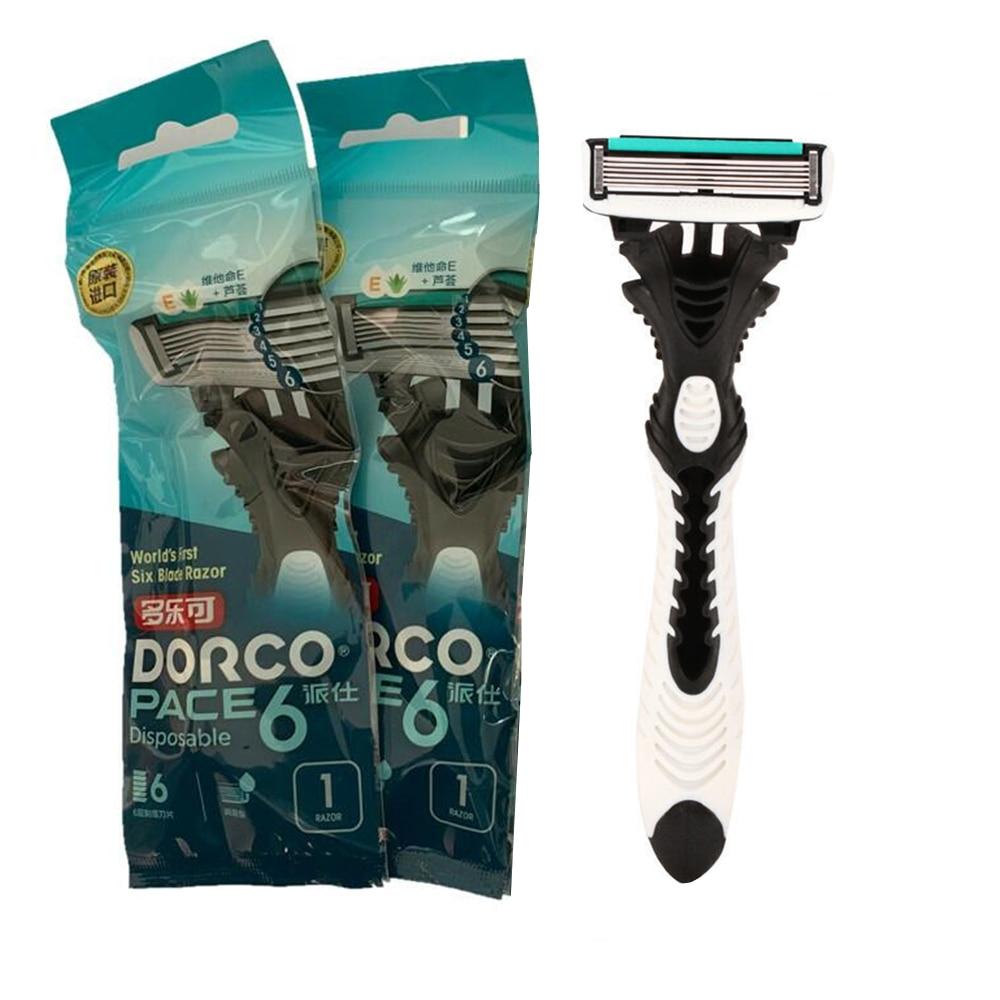 3pcs/lot 6-Layer Blades Original Dorco Razor for Men High Quality Razor Shaving Stainless Steel Safety Razor Blades Hair Trimmer