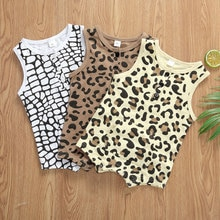 0-12M Kids Baby Boy Romper Sleeveless Summer Casual Print Baby Clothes Leopard Jumpsuit