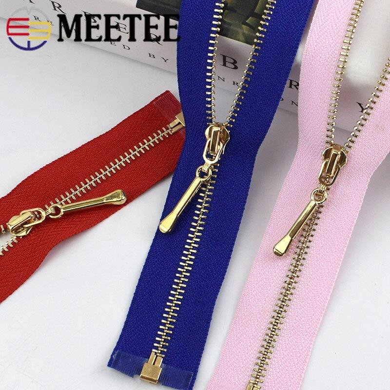 2pcs/5pcs 50-70cm 3# Open Metal Zippers for Sewing Clothes Bags Purse Shoes Craft Accessories Supplies Separating Zipper ZA046