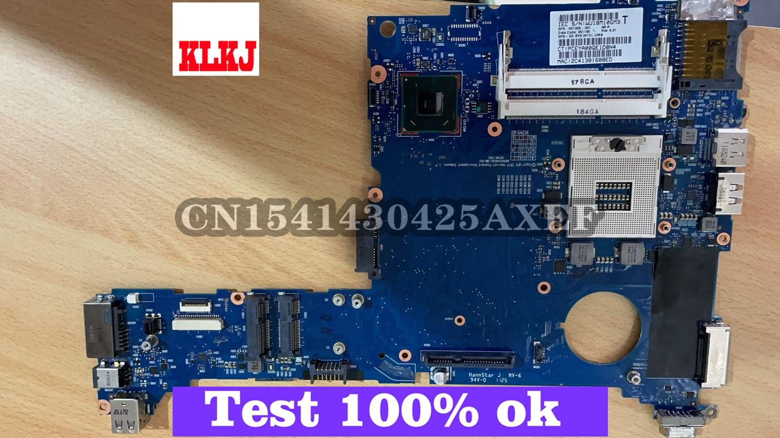 KLKJ 6050A2400201-MB-A02 لوحة رئيسية لأجهزة HP الكمبيوتر المحمول EliteBook 2560P اللوحة الرئيسية الأصلية QM67