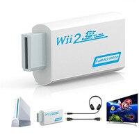 1080P Wii в HDMI-совместимый конвертер Wii 2HDMI преобразователь Аудио выход адаптер Full HD 3,5 мм аудио для фотодисплея