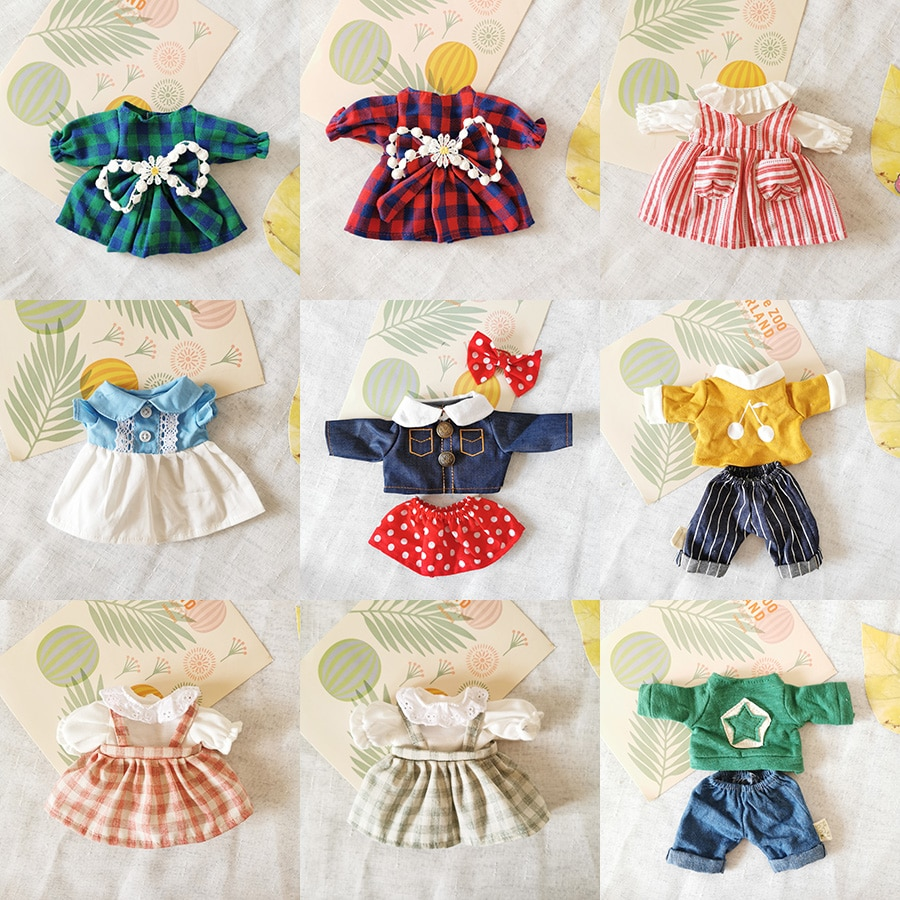 1PC Doll Outfit Clothes Fit 30cm Rabbit Plush Toys Beautiful Dress Suit Play House Accessories for 1
