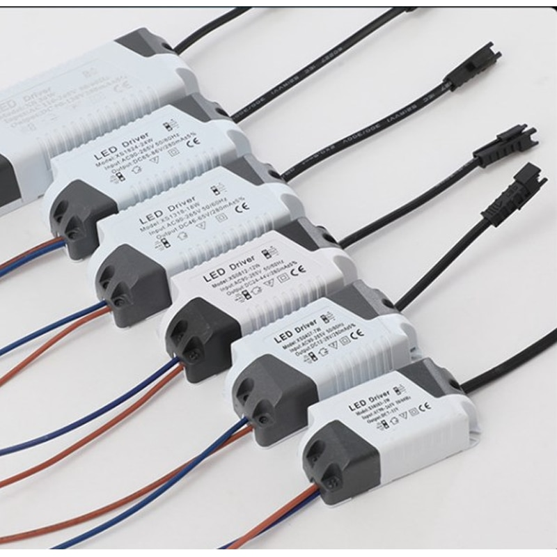 1pcs LED Light Transformer Power Supply Adapter For Led Lamp/bulb 1-3W 4-7W 8-12W 13-18W 18-24W Safe