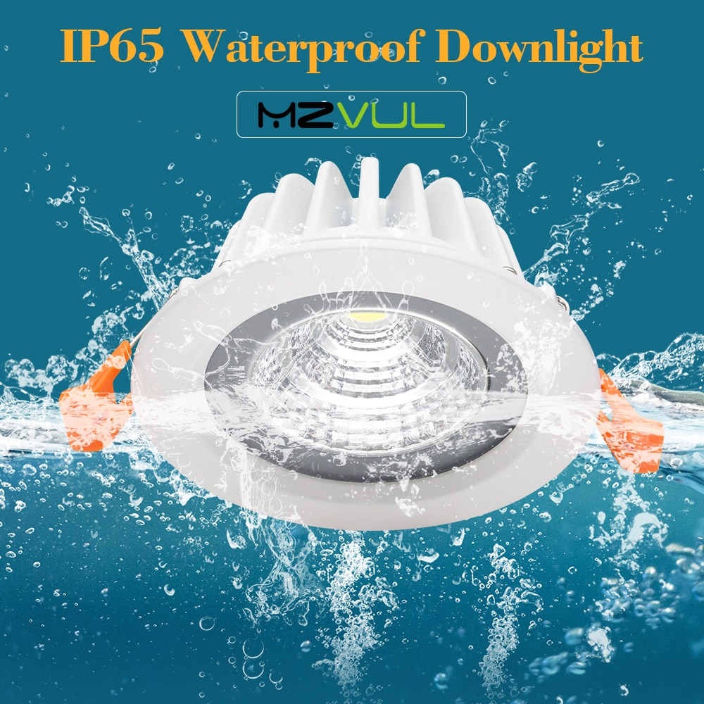 ip65 waterproof led recessed downlight 5w 7w 9w 12w 15w led spot light ceiling lamp home lighting ac 85 265v for bathroom lamp Anti-corrosion LED Downlight IP65 Waterproof led Ceiling Lamp 7W 15W LED Spot Lighting Kitchen Bathroom led Recessed Downlight