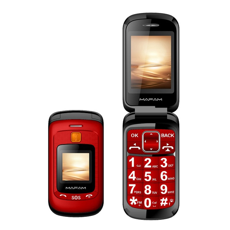 Senior Flip Cellphone Double Dual Screen phone Dual SIM Speed Dial SOS key Russian Keyboard FM For Old People