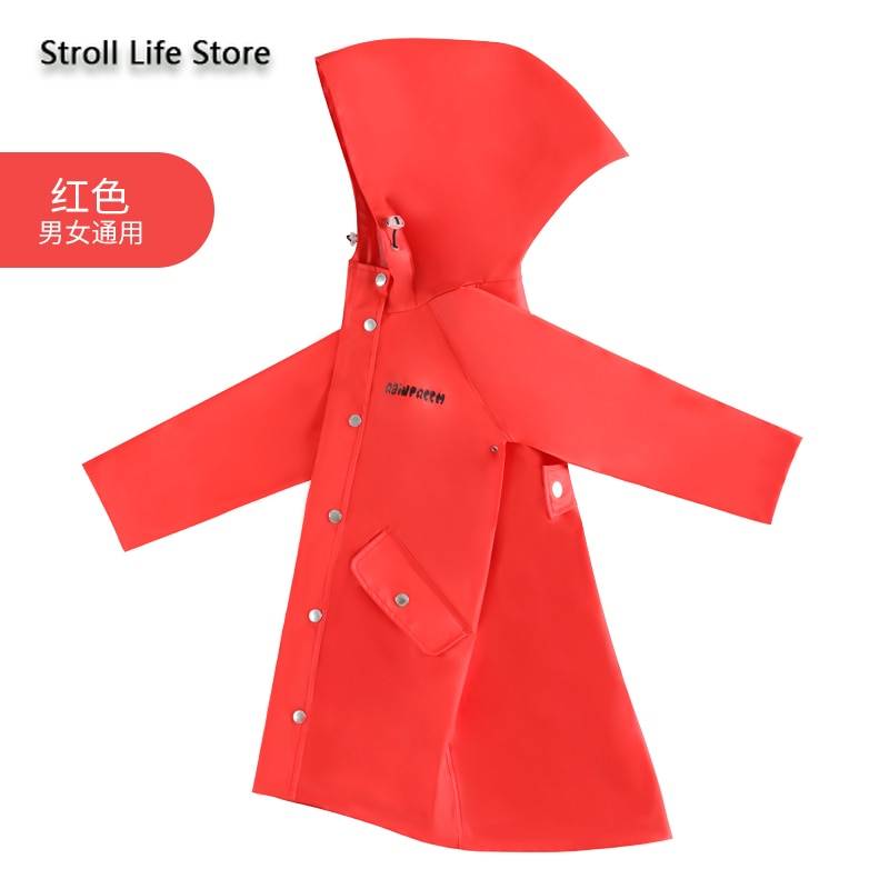 Waterproof Cute Long Raincoat Kids Yellow Pink Rain Ponch Jacket  Rain Partner Children Windbreaker Capa De Chuva Birthday Gift enlarge