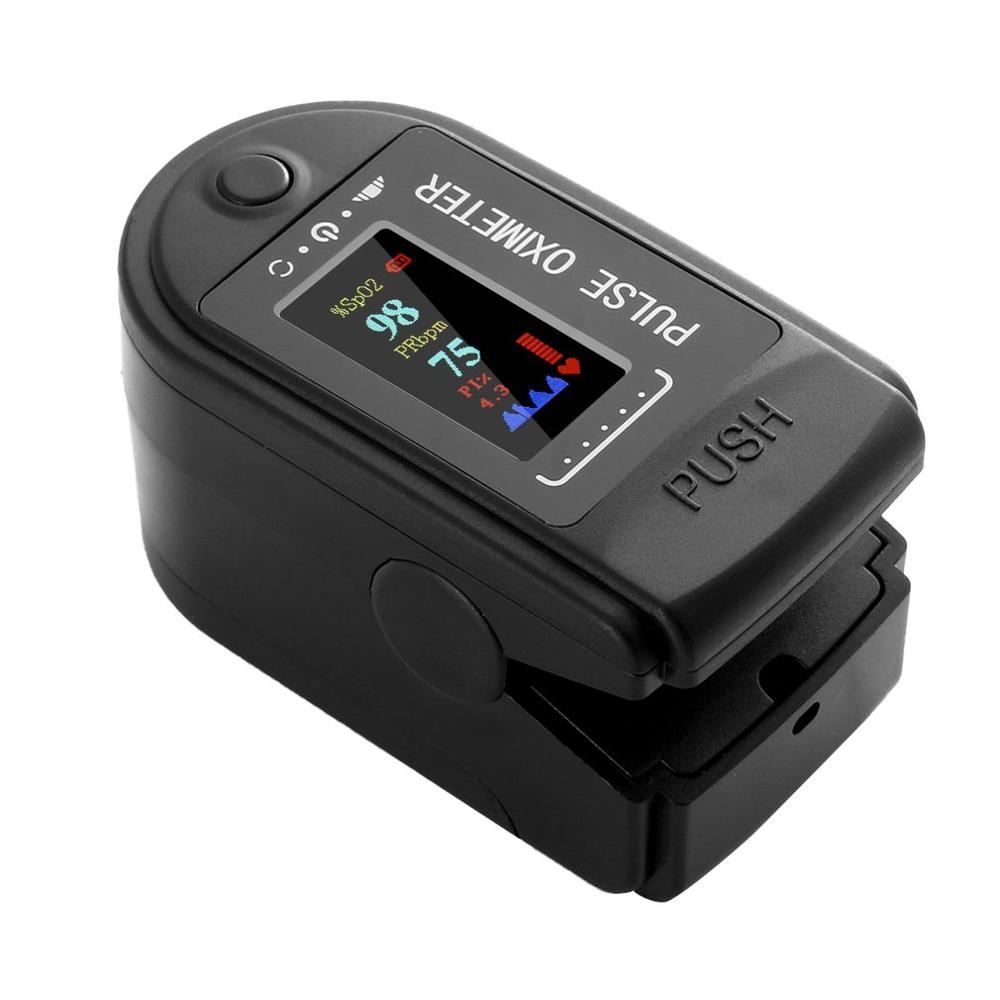 LED colorido pantalla Digital oxímetro de pulso para dedo PO2 PR de oxígeno en la sangre dedo Clip Monitor de ritmo cardíaco dedo oxímetro portátil