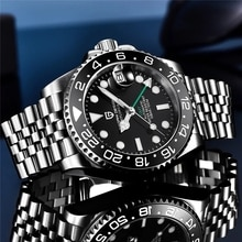 PAGANI DESIGN GMT 40MM Mechanical Watches Top Brand Sapphire Glass Stainless Steel Sports Waterproof