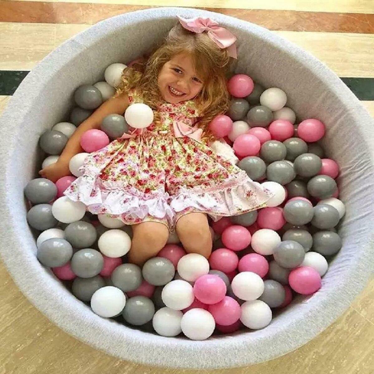 50 pçs eco-friendly colorido bola pits plástico macio oceano bola de água piscina oceano onda bola nadar brinquedos para crianças crianças bebê