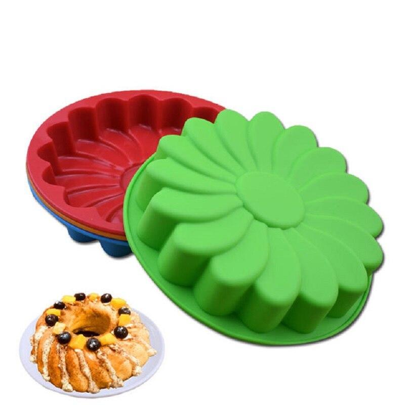 Molde de pastel de silicona Dcorating comida herramienta para hornear galleta molde cocina Pan DIY Biscute girasol forma de Fondant Decoración Accesorios