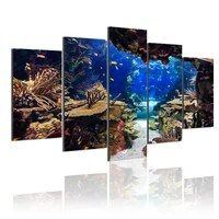 tropical fish reef ocean 5 panels hd canvas painting posters wall art print pictures living room interior home decoration frame