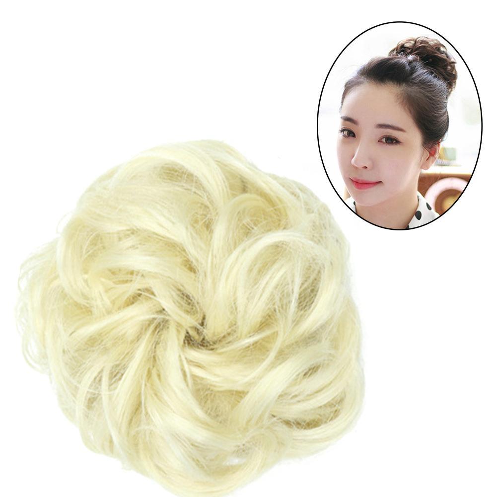 Кудрявые резинки шиньон женские волосы пучок для наращивания волнистые кудрявые грязные парик Свадебные невесты эластичные шиньоны для во...
