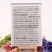 sentence clear stamps cutting dies scrapbook christmas card paper craft silicon rubber roller transparent stamps