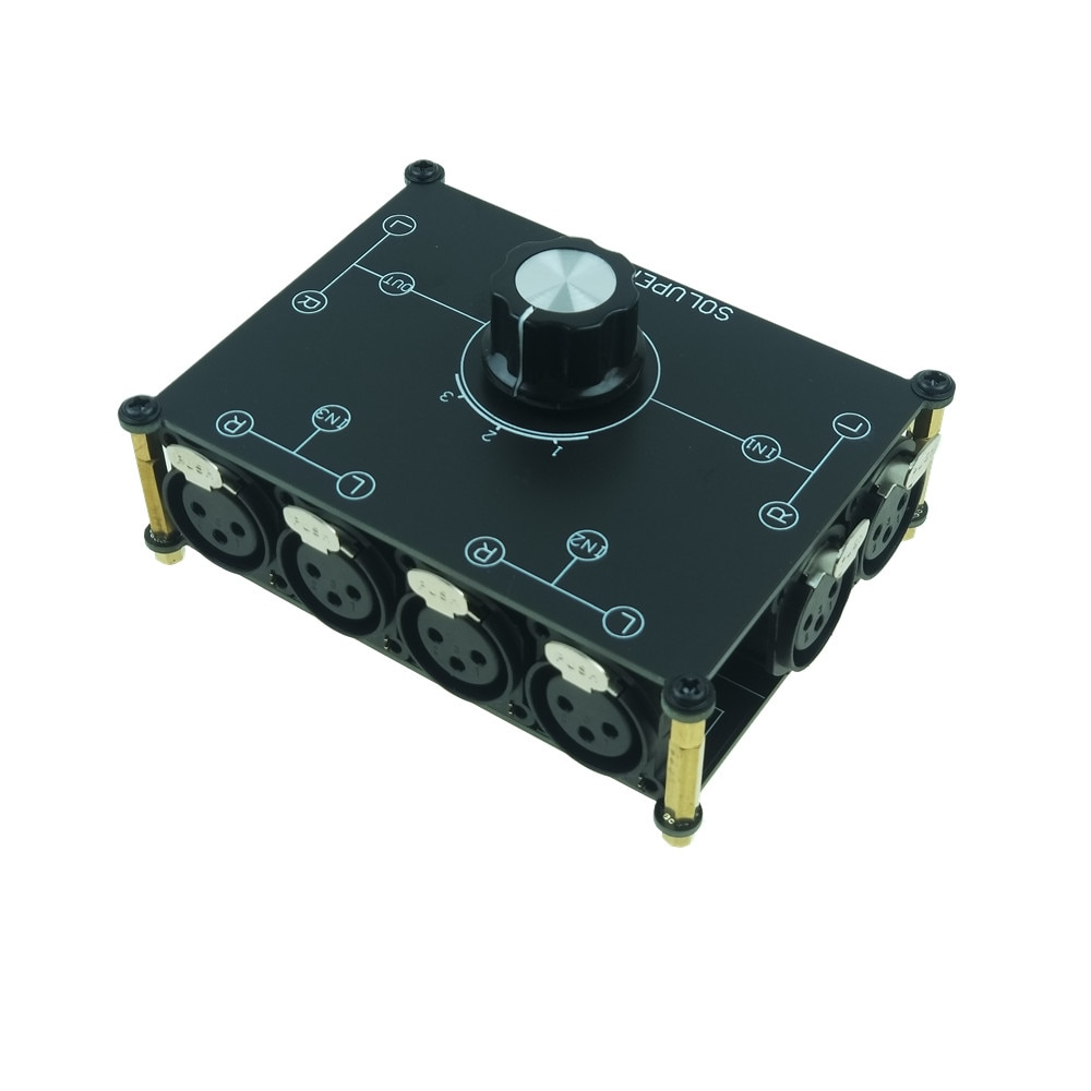 Dissolved peak-مفتاح تبديل صوت ستيريو XLR ، صندوق مقسم سلبي ، خيار 3(1) في 1(3) إخراج