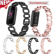 Watch Strap For Fitbit Luxe Watch Band Accessories sport Stainless Steel Metal Watch Bands Premium J