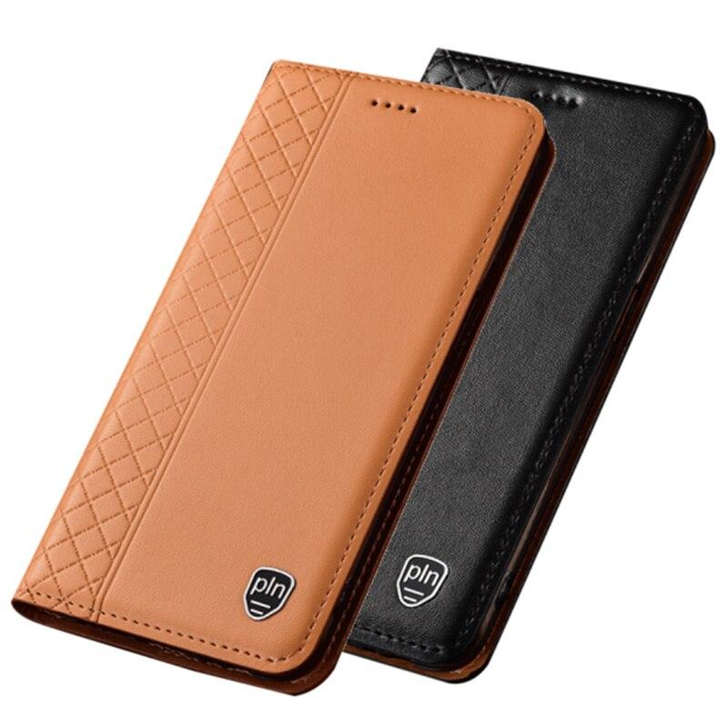 Bolsa de teléfono magnético de cuero genuino, tarjetero para BlackBerry KEYone DTEK70, funda con cubierta para Blackberry Key2, funda con tapa