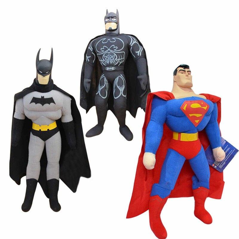 1 sztuk 25cm Hot sprzedam zabawki Spiderman Batman Superman wysokiej jakości pluszowe zabawki poduszki prezent bożonarodzeniowy dla dziecka Cartoon rysunek poduszki