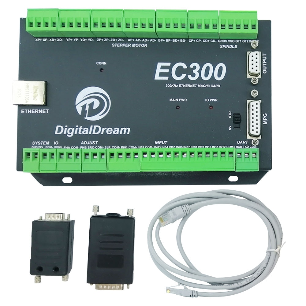 New Ethernet CNC MACH3  300KHz EC300 3/4/5/6 Axis CNC Motion Control Card for milling machine