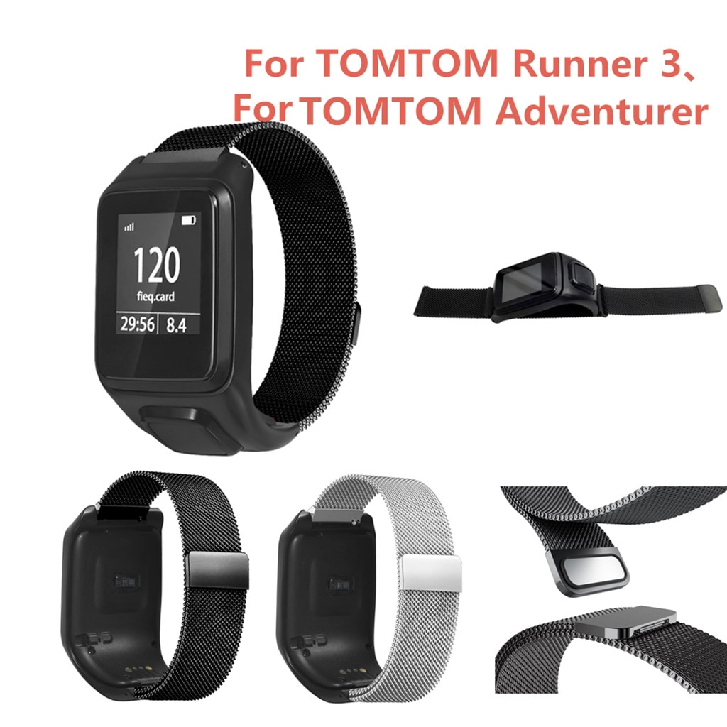 Correa de reloj de pulsera magnética de alta calidad para TOMTOM Runner 3/Adventurer Correa de reloj # G1
