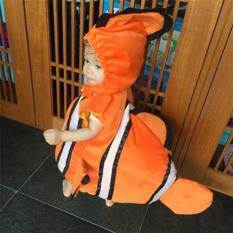 Nuevo hallazgo disfraz de bebé Nemo pez payaso de Pixar animado pequeño bebé niños Halloween traje de Cosplay de Navidad