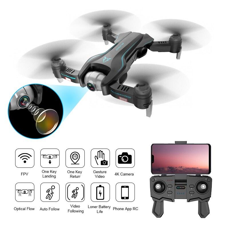 Funsky S20 Wifi Fpv Z 4 K 1080 P Kamera Hd 18 Minut Czas Lotu Inteligentny Składany Zdalnie Sterowany Dron Quadcopter Rc Helicopters Aliexpress
