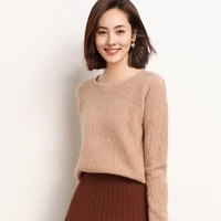 ladies pullover 2021 winter new casual solid color 100 wool sweater plus size round neck cashmere sweater thickened womens top