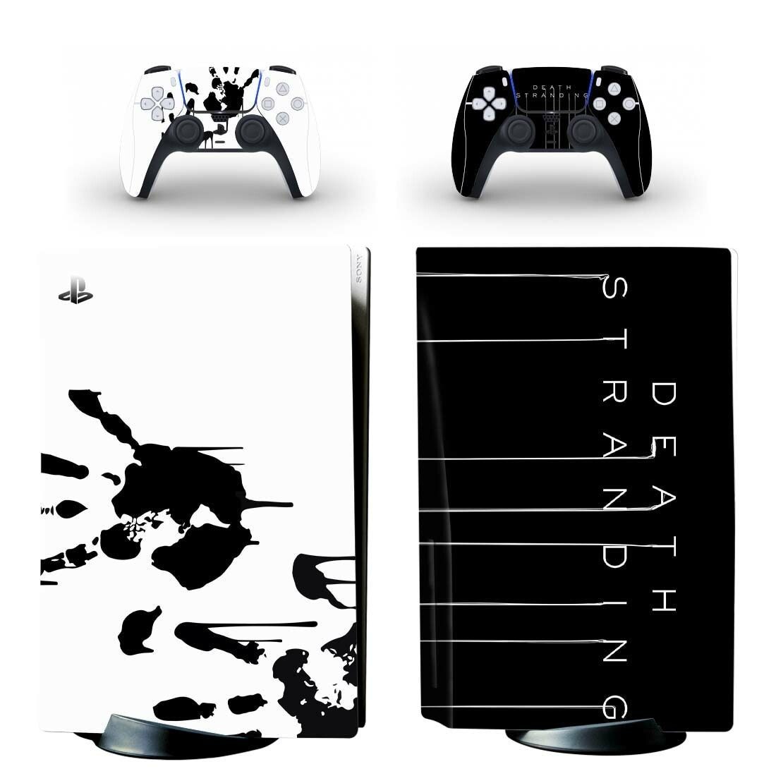 الموت ستراندينغ PS5 القياسية القرص الجلد ملصق مائي غطاء ل بلاي ستيشن 5 وحدة التحكم و 2 وحدات تحكم PS5 القرص الجلد الفينيل