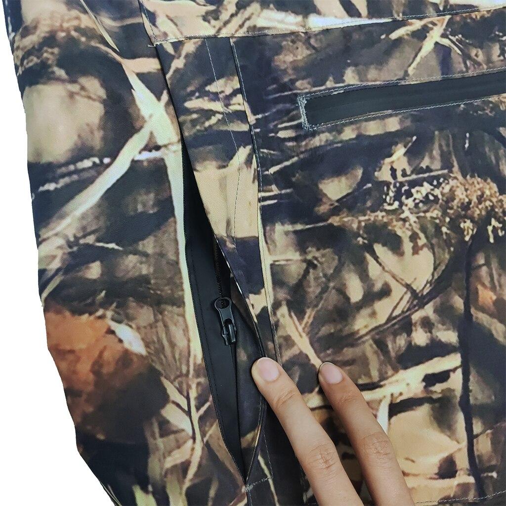 Waders Fishing  Waterproof Breathable  One-piece Camouflage  Pants With Neoprene Socks enlarge