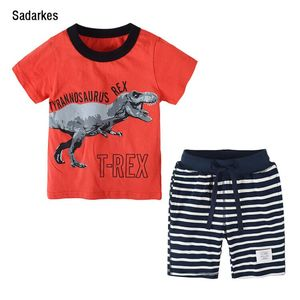 Sadarkes Summer Boys Clothes Set Kid Clothes  Letter Print Children's Clothing Sets T-Shirt + Shorts CF714