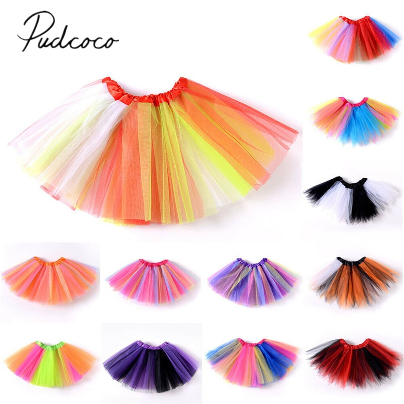 baby girl clothes girl skirt summer fashion ball gown kids baby girls dance fluffy tutu skirt fancy ballet costume skirt 4 color 2020 Baby Summer Clothing New Kids Tutu Skirt Baby Princess Dressup Party Girls Costume Ballet Dance Wear Colorful Chiffon Skirt