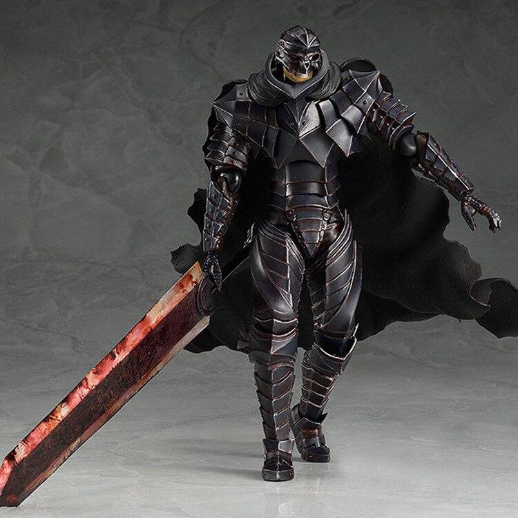 Loco negro espadachín de PVC figura de acción figma 410 Berserk de anime negro espadachín modelo juguetes estatuilla