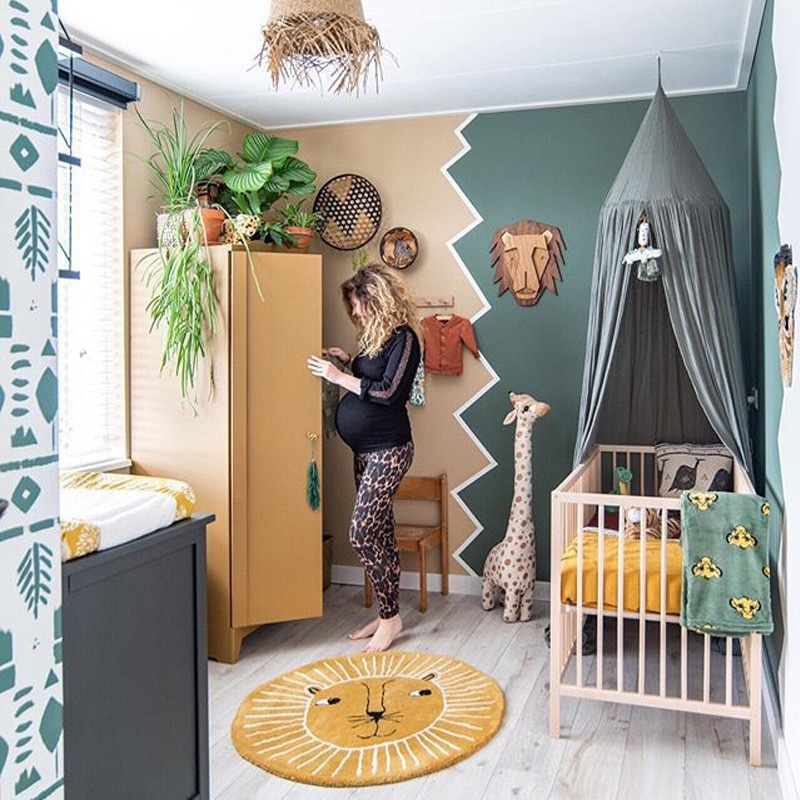 سجادة على الطراز الاسكندنافي للأطفال سجادة ارضية بأشكال كرتونية اسد وحصير زاحفة تشبه الكشمير سجادة لغرفة المعيشة غرفة نوم الاطفال