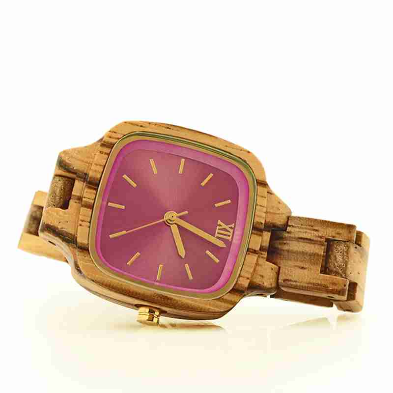 2021 New Fashion Wood Watches for Women Quartz Wristwatch Golden Pointer Ladies Timepieces Elegant Wooden Watches enlarge