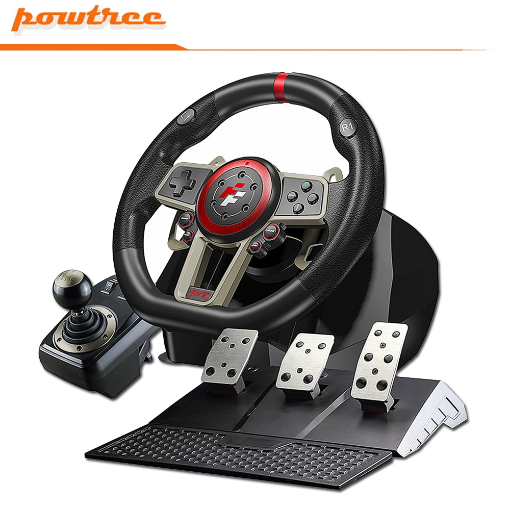Racing Steering Wheel For PS4/PS3/PCSwitch/Xbox One/Xbox 360 Game Steering Vibration Joysticks Remote Controller Wheels Drive