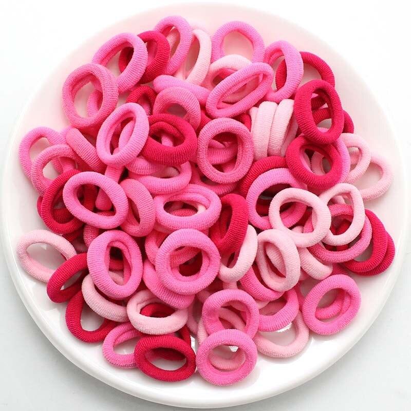 100 шт./лот, 2,5 см, Детские эластичные резинки для волос ярких цветов, эластичные резинки для волос, мини-резинки для волос, резинка для девочек