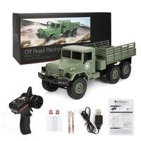 Радиоуправляемые грузовики, военный грузовик с дистанционным управлением WPL DIY/Ready-to-Go B-16 1:16 4WD, радиоуправляемая Беспроводная машина с диста...
