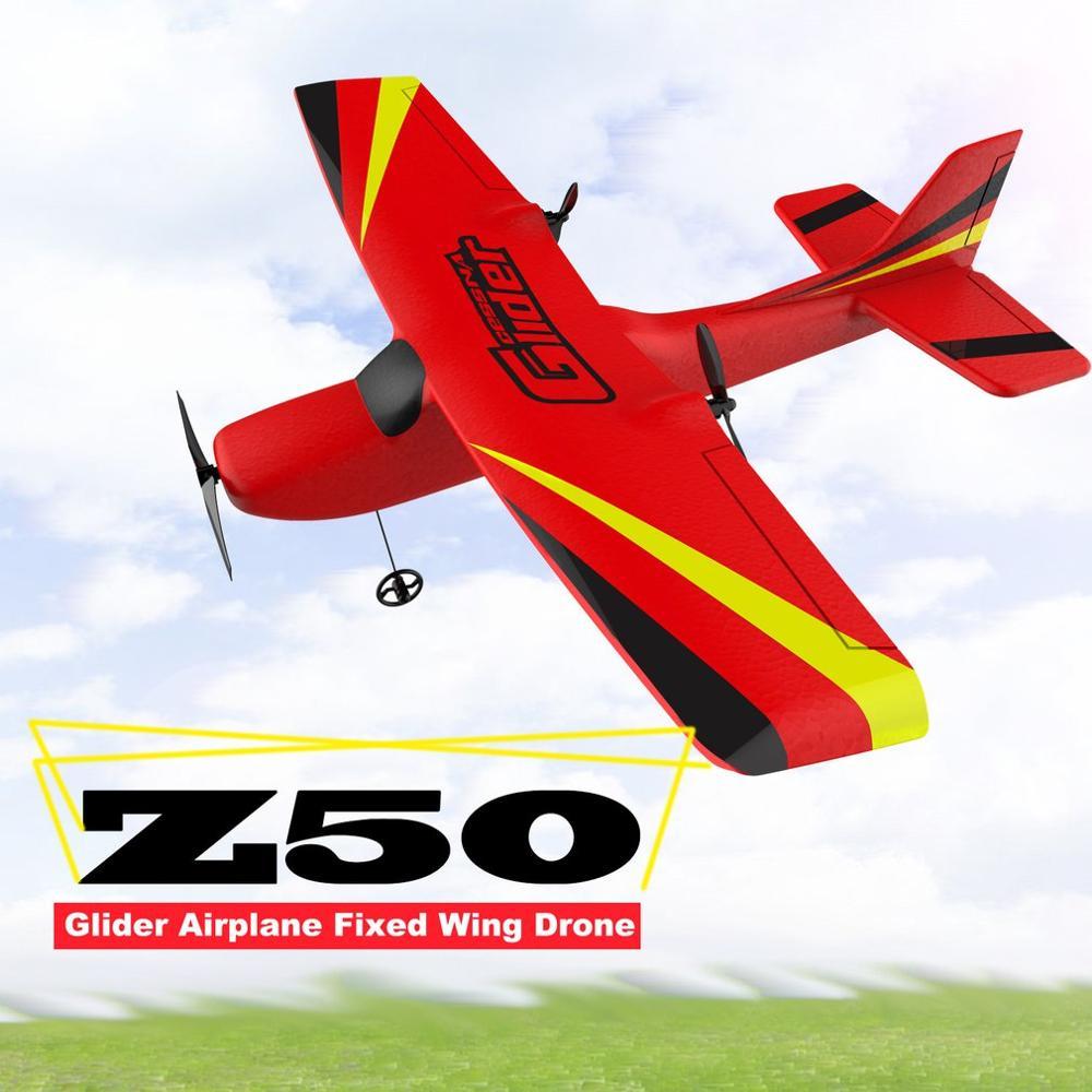 طائرة بدون طيار Z50 2.4G 2CH 350 مللي متر بجهاز تحكم عن بعد بجناح صغير طائرة شراعية RC جناح ثابت EPP مع جيرو مدمج للأطفال