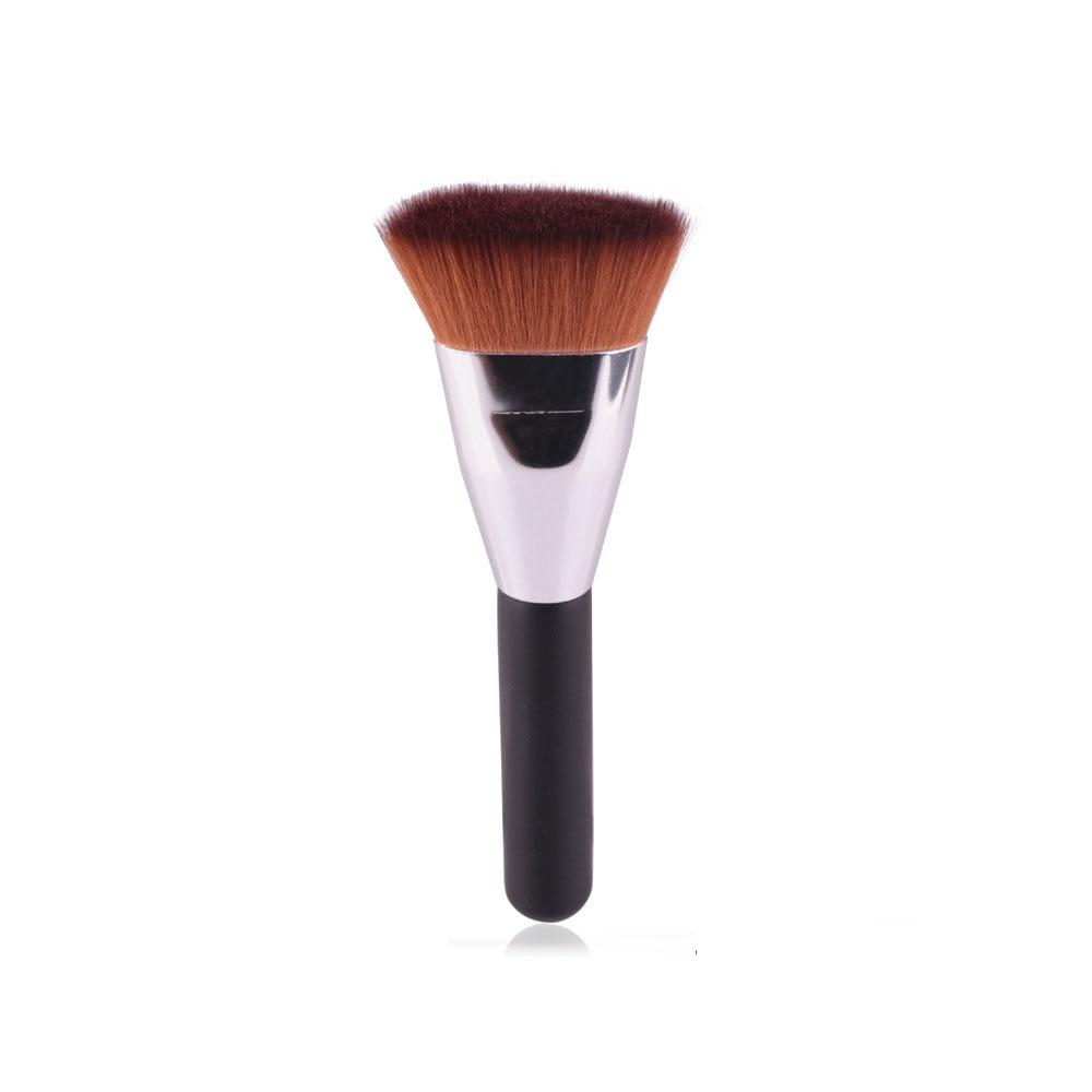 1PC Professional Flat Contour Blending Foundation Makeup Brushes Blush Makeup Cosmetic Powder Face Beauty Brush Tool недорого