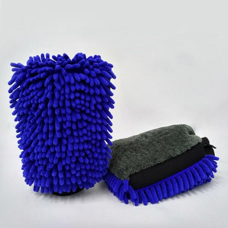 Microfiber car wash gloves car cleaning tool wheel brush multifunctional cleaning brush details