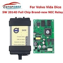 Full Chip For Volvo  Car Diagnostic Tool Vida Dice SW 2014D Dice Pro OBD2 Scanner For Volvo Cars Firmware Update Self Test OBD2