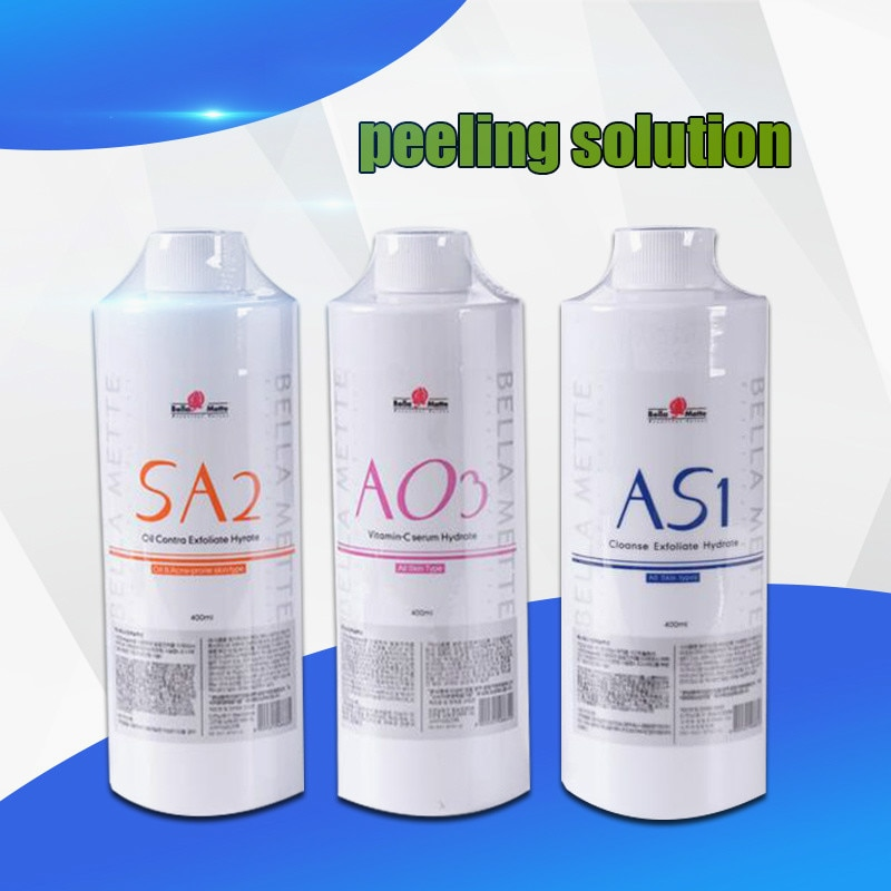 Hydra as1 sa2 ao3 soro facial para água dermabrasion pele máquina de limpeza aqua peeling solução por garrafa aqua soro facial