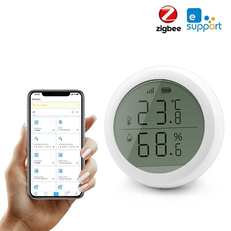 EWelink Temperature Humidity Sensor Zigbee Temperature Humidity Detector Use With Zigbee Gateway Family Intelligence System