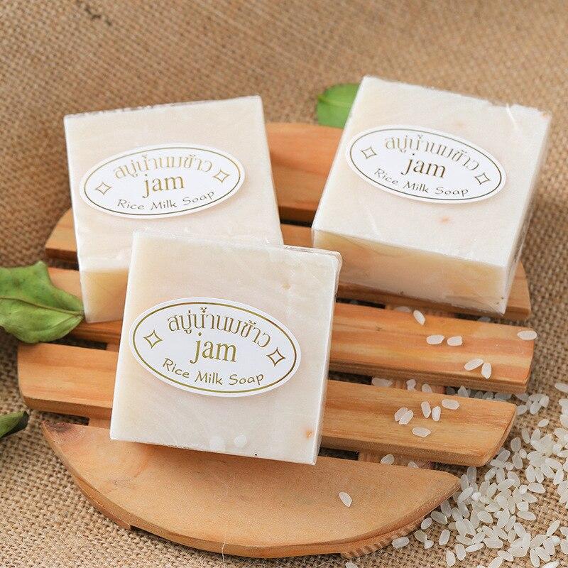 Thailand JAM Rice Milk Soap 65g Original Thailand Handmade Soap Rice Milk whitening soap goat milk soap rice soap for face acne