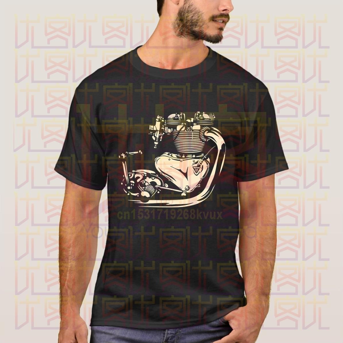 Triumph Engine, camiseta Vintage para motocicleta, verano 2020, camiseta de manga corta para hombre